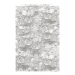 Abstract in Silver Shower Curtain 48  x 72  (Small)