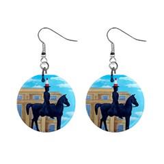 Glasgow Duke Of  Wellington Mini Button Earrings