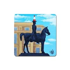 Glasgow Duke Of  Wellington Magnet (square)
