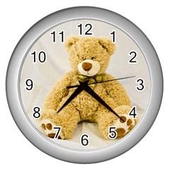 Teddy Wall Clock (Silver)