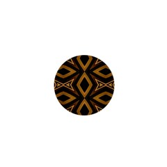 Tribal Diamonds Pattern Brown Colors Abstract Design 1  Mini Button Magnet