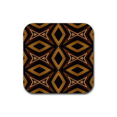 Tribal Diamonds Pattern Brown Colors Abstract Design Drink Coaster (Square)