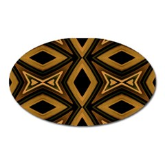 Tribal Diamonds Pattern Brown Colors Abstract Design Magnet (oval)