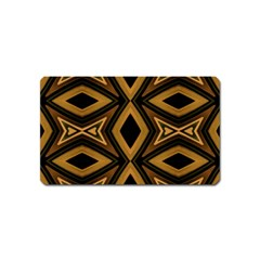 Tribal Diamonds Pattern Brown Colors Abstract Design Magnet (name Card)