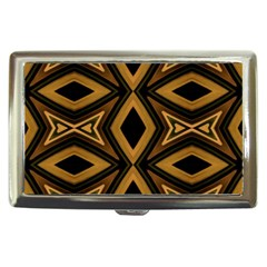 Tribal Diamonds Pattern Brown Colors Abstract Design Cigarette Money Case