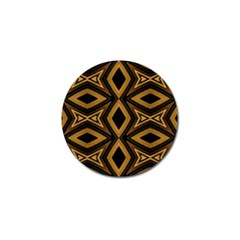 Tribal Diamonds Pattern Brown Colors Abstract Design Golf Ball Marker