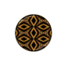 Tribal Diamonds Pattern Brown Colors Abstract Design Golf Ball Marker 4 Pack (for Hat Clip)