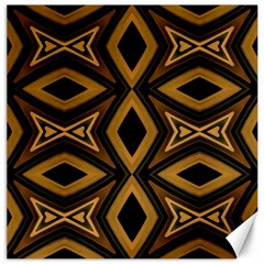 Tribal Diamonds Pattern Brown Colors Abstract Design Canvas 20  x 20  (Unframed)