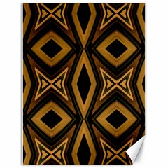 Tribal Diamonds Pattern Brown Colors Abstract Design Canvas 18  x 24  (Unframed)