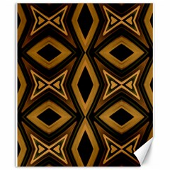 Tribal Diamonds Pattern Brown Colors Abstract Design Canvas 20  x 24  (Unframed)