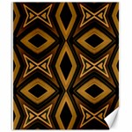 Tribal Diamonds Pattern Brown Colors Abstract Design Canvas 20  x 24  (Unframed) 24 x20 Canvas - 1
