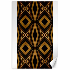 Tribal Diamonds Pattern Brown Colors Abstract Design Canvas 20  x 30  (Unframed)