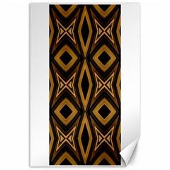 Tribal Diamonds Pattern Brown Colors Abstract Design Canvas 24  X 36  (unframed)
