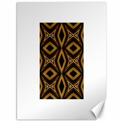Tribal Diamonds Pattern Brown Colors Abstract Design Canvas 36  x 48  (Unframed)