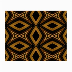 Tribal Diamonds Pattern Brown Colors Abstract Design Glasses Cloth (Small, Two Sided)