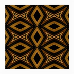 Tribal Diamonds Pattern Brown Colors Abstract Design Glasses Cloth (Medium, Two Sided)