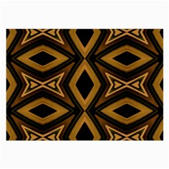 Tribal Diamonds Pattern Brown Colors Abstract Design Glasses Cloth (large)