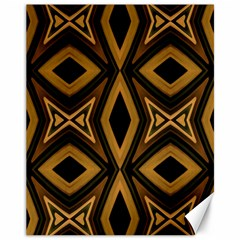 Tribal Diamonds Pattern Brown Colors Abstract Design Canvas 11  X 14  (unframed)