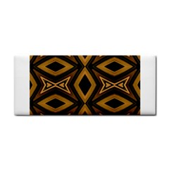 Tribal Diamonds Pattern Brown Colors Abstract Design Hand Towel