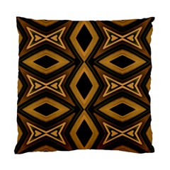 Tribal Diamonds Pattern Brown Colors Abstract Design Cushion Case (Two Sided)