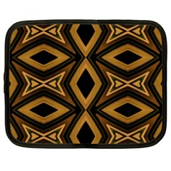 Tribal Diamonds Pattern Brown Colors Abstract Design Netbook Sleeve (xl)