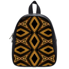 Tribal Diamonds Pattern Brown Colors Abstract Design School Bag (small)