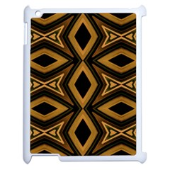 Tribal Diamonds Pattern Brown Colors Abstract Design Apple Ipad 2 Case (white)
