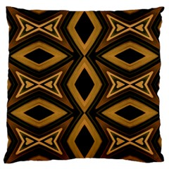 Tribal Diamonds Pattern Brown Colors Abstract Design Large Cushion Case (Single Sided)