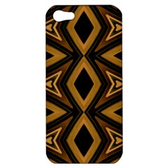 Tribal Diamonds Pattern Brown Colors Abstract Design Apple Iphone 5 Hardshell Case