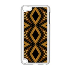 Tribal Diamonds Pattern Brown Colors Abstract Design Apple iPod Touch 5 Case (White)
