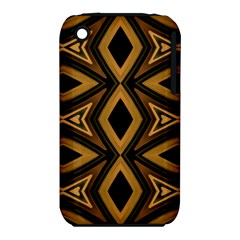 Tribal Diamonds Pattern Brown Colors Abstract Design Apple iPhone 3G/3GS Hardshell Case (PC+Silicone)