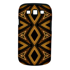Tribal Diamonds Pattern Brown Colors Abstract Design Samsung Galaxy S III Classic Hardshell Case (PC+Silicone)