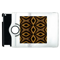 Tribal Diamonds Pattern Brown Colors Abstract Design Apple iPad 2 Flip 360 Case