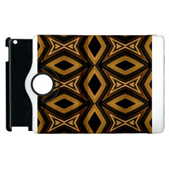 Tribal Diamonds Pattern Brown Colors Abstract Design Apple Ipad 3/4 Flip 360 Case