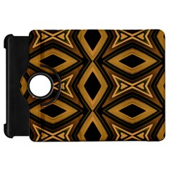 Tribal Diamonds Pattern Brown Colors Abstract Design Kindle Fire HD 7  (1st Gen) Flip 360 Case