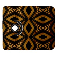 Tribal Diamonds Pattern Brown Colors Abstract Design Samsung Galaxy Note II Flip 360 Case