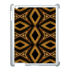 Tribal Diamonds Pattern Brown Colors Abstract Design Apple Ipad 3/4 Case (white)