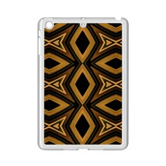 Tribal Diamonds Pattern Brown Colors Abstract Design Apple Ipad Mini 2 Case (white)