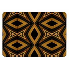 Tribal Diamonds Pattern Brown Colors Abstract Design Samsung Galaxy Tab 8.9  P7300 Flip Case