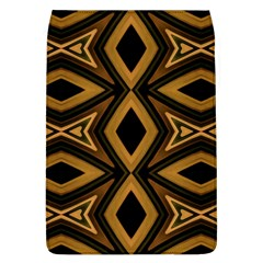 Tribal Diamonds Pattern Brown Colors Abstract Design Removable Flap Cover (large)