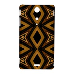 Tribal Diamonds Pattern Brown Colors Abstract Design Sony Xperia TX Hardshell Case