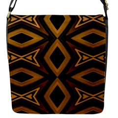 Tribal Diamonds Pattern Brown Colors Abstract Design Flap Closure Messenger Bag (Small)