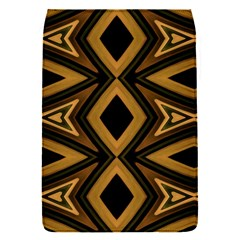 Tribal Diamonds Pattern Brown Colors Abstract Design Removable Flap Cover (Small)
