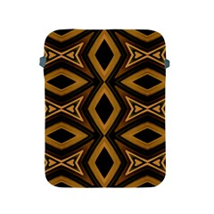 Tribal Diamonds Pattern Brown Colors Abstract Design Apple Ipad Protective Sleeve