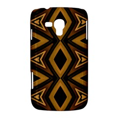 Tribal Diamonds Pattern Brown Colors Abstract Design Samsung Galaxy Duos I8262 Hardshell Case