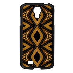 Tribal Diamonds Pattern Brown Colors Abstract Design Samsung Galaxy S4 I9500/ I9505 Case (black)