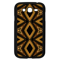 Tribal Diamonds Pattern Brown Colors Abstract Design Samsung Galaxy Grand Duos I9082 Case (black)