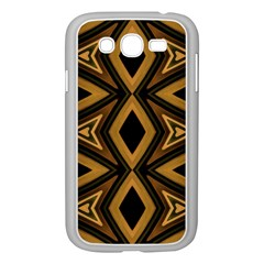 Tribal Diamonds Pattern Brown Colors Abstract Design Samsung Galaxy Grand Duos I9082 Case (white)