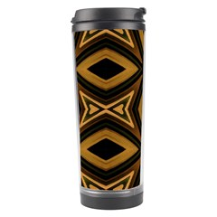 Tribal Diamonds Pattern Brown Colors Abstract Design Travel Tumbler
