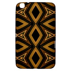 Tribal Diamonds Pattern Brown Colors Abstract Design Samsung Galaxy Tab 3 (8 ) T3100 Hardshell Case